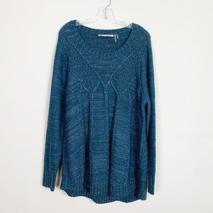 Soft Surroundings | cable knit pullover sweater 1X